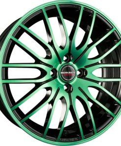 Jante aliaj BORBET CW 4 BLACK GREEN GLOSSY 222001 din stockul tunershop.ro