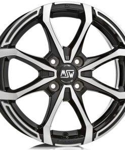 Jante aliaj MSW MSW X4 matt black full polished W19264001T59 din stockul tunershop.ro