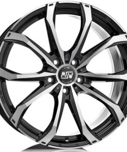 Jante aliaj MSW MSW 48 matt black full polished W19266003I59 din stockul tunershop.ro