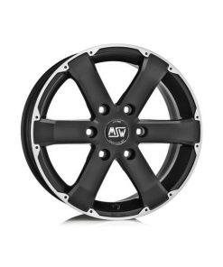 Jante aliaj MSW MSW 46 matt black full polished W8507400159 din stockul tunershop.ro