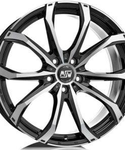 Jante aliaj MSW MSW 48 matt black full polished W1926000559 din stockul tunershop.ro